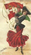 New listing Vintage tobacco cigarette silk card - Flag Girl Austria 3X5