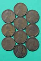 Lot of 10 1912 P Lincoln Wheat Cents Exact Coins Shown Flat Rate Shipping OCE739