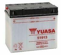 Yuasa 51913 BMW R1100RS, RT '93- '00 Conventional YuMicron 12v Battery