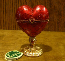 """Bearington Furniture/Accessory #1922 SWEETHEART BOX, New From Retail Store 3.5"""""""