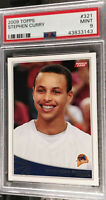2009-10 Topps Stephen Curry RC #321 PSA 9 Mint