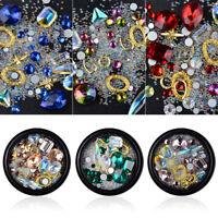 Eg _ Mélange 3D Strass Perles Art Ongles Embouts Décor Clous DIY Manucure Outil