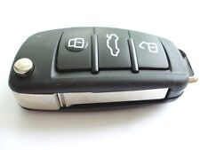 RICAMBIO 3 bottoni chiave a scomparsa Custodia per AUDI A3 A4 A6 A8 TT