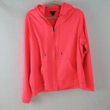Sport-Tek Women's Plus Size 2X XXL Fluorescent Pink Zip Hoodie Activewear Jacket