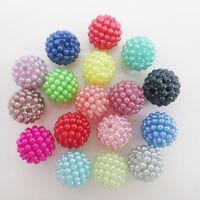 Lot 10 Perle Acrylique Framboise 10mm Couleur au Choix, Chunky Bubblegum Gunball
