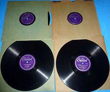 "Paul Weston 4X10"" 78 rpm DOUBLE DATIN', BOP WENT THE STRINGS, DARDANELLA"
