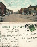 HOMESTEAD PA EIGHTH AVENUE ANTIQUE POSTCARD w/ CORK CANCEL