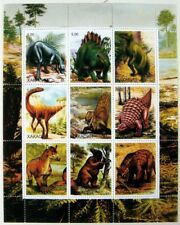 2000 MNH DINOSAUR STAMPS SHEET PREHISTORIC WILD ANIMALS PRIVATE ISSUE REPTILE