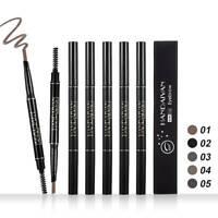 HANDAIYAN Double Ended Eyebrow Pencil Pen Long Lasting Waterproof Makeup 5Colors