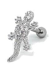 Lizard Cartilage Tragus Bar Earring CZ 16g (1.2mm) Piercing Body Bar Jewellery