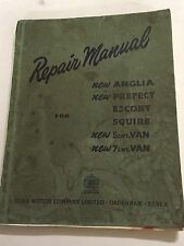 FORD ANGLIA PREFECT ESCORT SQUIRE 5cwt 7cwt VAN OEM FACTORY REPAIR MANUAL 1956