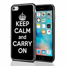 Black Keep Calm and Carry On For Iphone 7 (2016) & Iphone 8 (2017) Case Cover