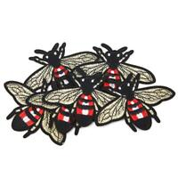 6 x Cute Bee Flying Embroidery Applique Patch Sew Iron Badge Clothes Jeans Decor