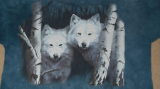 Vintage 1998 White Wolves in Snow T-Shirt XL THE MOUNTAIN Rare Uncommon