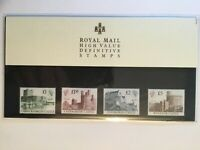 """Royal Mail High Value Definitive Stamps"" Castles Presentation Pack 18 Fine"