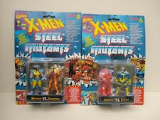 X-MEN STEEL MUTANTS -PAIR CARDED FIGURES - TYCO DATED 1994.