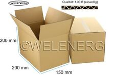 300 Faltkartons 200x150x200mm B-400g/m2  Versandkarton Falt Kartons [ braun ]