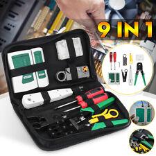 Lan Network Hand Tool Cable Tester Crimp Crimper Plier Kit Cat5 Rj45 Rj11 Rj45