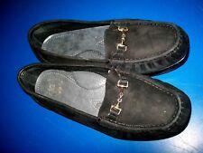 SAS Womens Tripad Comfort Loafer Black Suede Slip On Horse Bit Size 8WW