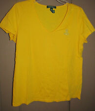 LAUREN RALPH LAUREN WOMEN T Shirts Tops  YELLOW Sz M/M