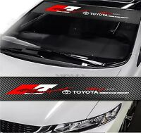 "TRD Front Window Windshield Carbon Fiber Vinyl Banner Decal Sticker 51""x8.25"""