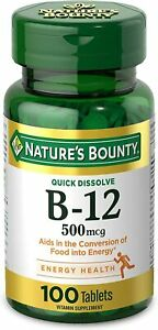 Vitamin B12 by Nature's Bounty, Quick Dissolve Supplement, Supports...