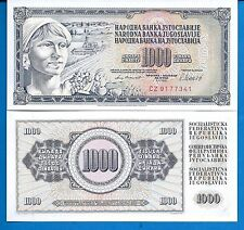 Yugoslavia P-92 One Thousand Dinara Year 1981 Uncirculated Banknote