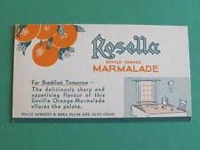 Vintage Australian Blotter Rosella Foods Marmalade Unused