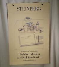 1978 Saul Steinberg Hirshhorn Smithsonian Museum Exhibition Poster  - 55568