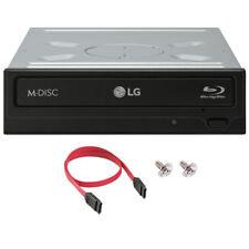 LG WH16NS40 16X Internal Blu Ray DVD CD Burner Drive Writer + SATA Cable, Screws