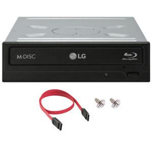 LG WH16NS40 16X Internal Blu-ray BDXL DVD CD Burner Writer +SATA Cable+Screws