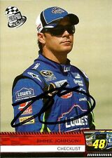 Jimmie Johnson Signed 2009 Press Pass NASCAR Trading Card