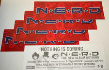 NERD Nothing N.E.R.D.  10 STICKERS - RED & BLUE