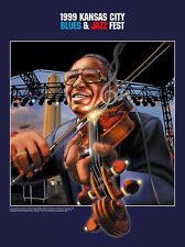 1999 Kansas City Blues & Jazz Fest Poster - Claude Williams by Thomas Gieseke
