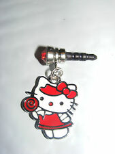 Red Sucker Candy Hello Kitty phone charm plug anti-dust 3.5mm iphone 4 4s smart