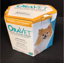 Oravet  Dental Hygiene Chews Small Dogs 3.5-9 lbs, 49 Chews Expired 2018 READ