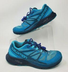 Salomon Womens Vibe Sense Ride Trail Running Shoues Turquoise Size 6