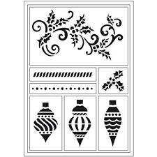 Christmas Flexible Self Adhesive Foil Stencil Sheet To Paint Decorate Crafts