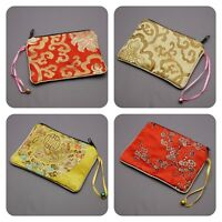 Chinese Purse Women's jewellery accessory travel Pouch Case Bag Ladies silk gift
