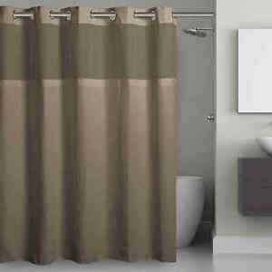 Hookless Waffle Fabric 71-Inch x 74-Inch Shower Curtain in Desert Taupe