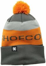 NEW DC Shoe Co USA Chester 14 Knitted Cap with Pom Grey Orange One Size w/o Tag