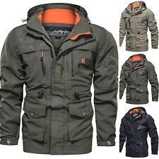 Winter Men's Waterproof Tactical Jacket Hooded Outdoor Military Coat Outwear