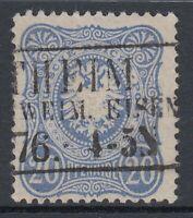 DR 36918) GUTE FARBE Mi.-Nr. 34 b aus 1876 tiefst geprüft WIEGAND BPP