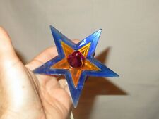 Glo Star Christmas Tree Topper Light Lighted Lucite Vintage On-A-Lite