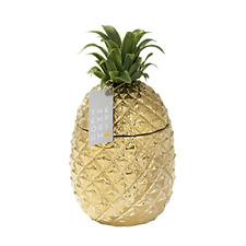 More details for gold pineapple ice bucket with lid, premium addition to your drinks trolley    