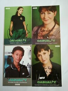 4 x Casualty Signed Photos