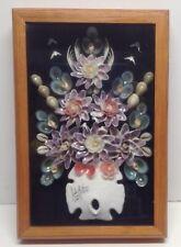 "Shadow Box Art Sea Shells Wall Art 8""x12"""