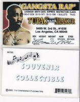 RAPPER LEGEND --   Gangsta Rap RAPPER drivers License fake Driver's id card