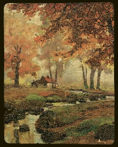 """Vintage PASTIME Wood Jigsaw Puzzle — """"Cottage in the Woods"""" — 415 Pieces"""