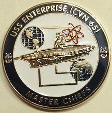USS Enterprise (CVN-65) Master Chiefs 1% Club Navy Challenge Coin